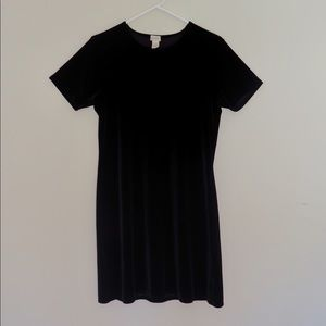 J. Crew Black Velvet Dress